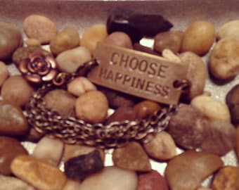 Choose Happiness Charm Bracelet