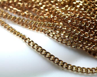 """1 meter 3.3 feet  4,7x3,6 mm 0,19""""x0,14"""" mm raw red brass chain for bracelet finding chain"""