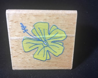 Hibiscus Rubber Stamp Used