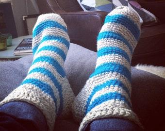 Crochet thick socks pattern