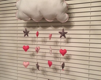 Raining Stars and Hearts Decoration
