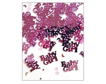 Baby Girl table confetti, birth celebration, baby girl celebration, baby shower, party decorations, UK seller, gender reveal, pink confetti