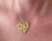 Gold Heart Necklace, Dain...