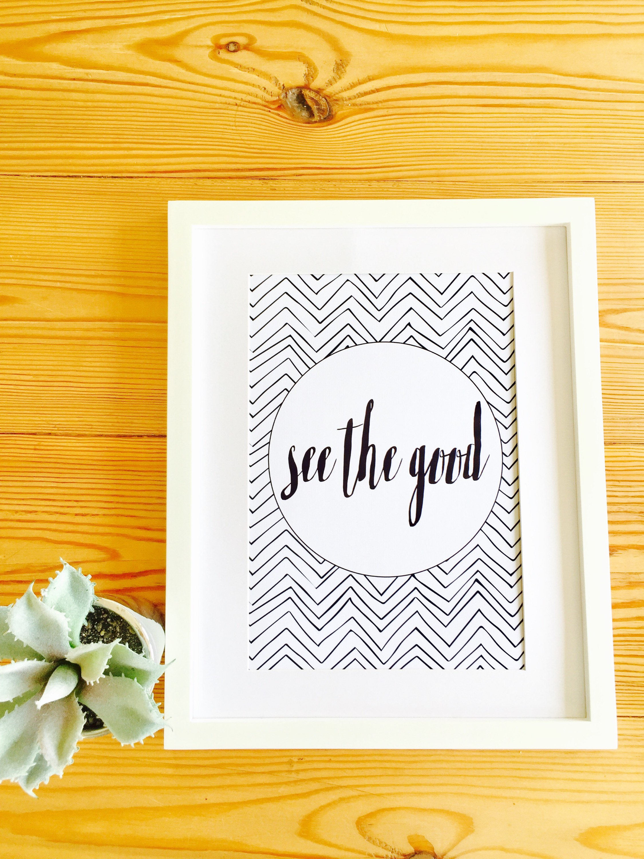 See The Good, Positive Quote Print, Black and White, Wall Art ...