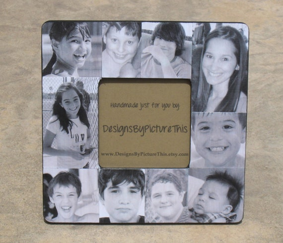 Personalized Father\'s Day Picture Frame, Photo Collage Frame, Family ...
