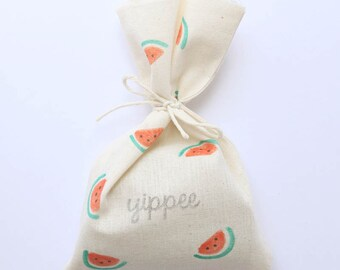 WATERMELON Favour Bags - Watermelon party, Summer, melon party, summer party, WATERMELON favours