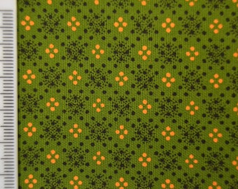 Shweshwe - South African Cotton - Flashing Lights - Green, Yellow and Black