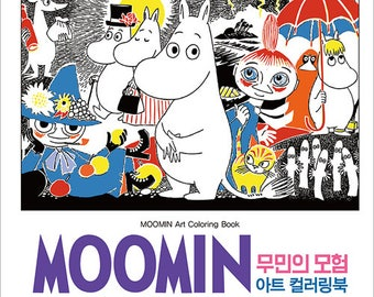 MOOMIN art coloring book(Hard Cover) - Moomin's Adventure, Yearimi Korean Moomin's Adventure Art Coloring Book
