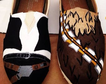 Star Wars: Han Solo and Chewbaca Hand Painted TOMS