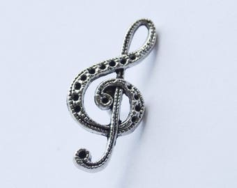 Treble Clef Brooch, Treble Clef Pin, Treble Clef Lapel Pin, Music Coat Pin, Treble Clef Tie Pin, Music Pin, Music Lapel Pin, Musician Gift