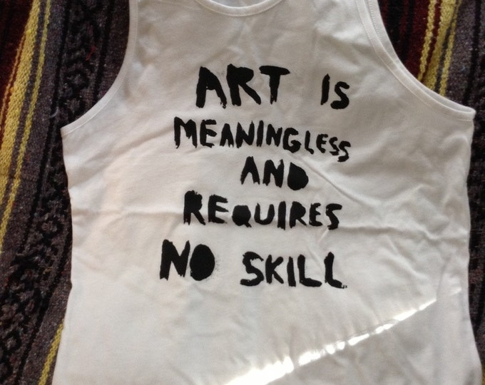 CHEAPO white contemporary artists' statement TANK