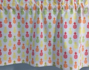 Pineapple Valance Pineapple Curtains Kitchen Curtains Bedroom Curtains Bathroom  Curtains Laundry