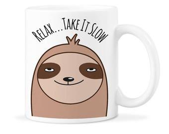 Sloth Mug Gift Sloth Animal Gift Funny Sloth Gift Cute Funny Sloth Sloth Coffee Gift Funny Sloth Mug Sloth Mug Cup Cute Sloth Mug