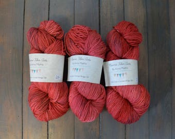 Romantic Red - Hand Dyed Superwash Sock