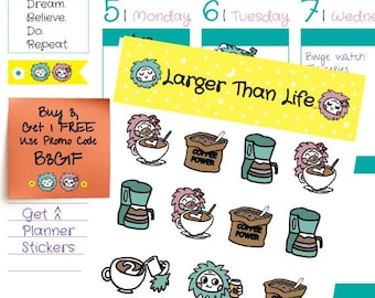 Coffee Time! Planner Stickers (L5035)