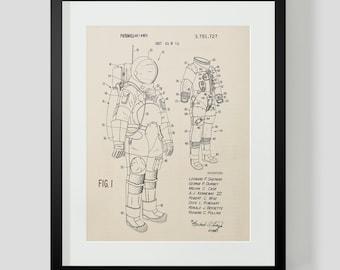 Space Suit Astronaut Patent Art Print