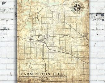 Map farmington Etsy