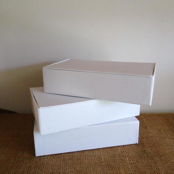 Cigar box 3 craft boxes plain pencil box blank white box for Cardboard cigar box crafts