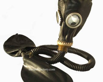 Russian GP5 Gas Mask Hood with Breathing Kit