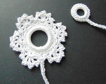Large white snowflake bookmark