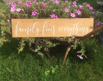 FAMILY fixes everything/ family wood sign/ home decor