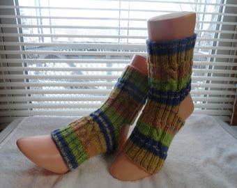 Hand knitted Yoga / Pedicure / Pilates / Dance Socks #001