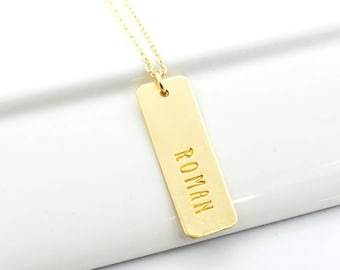 Name Necklace | One Word Jewelry | Mother's NuGold Pendant