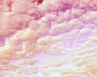 Cotton Candy Sky, Fine Art Photo, Soft, Pastel, Pink, Dreamy, Nature, Sky, Cloud Formation, Photograph, Romantic, Wedding Gift, Happy, Love