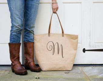 Monogrammed Weekender Birthday Gift for Women | Monogram Tote Bag Monogrammed Tote | Gifts for Her Under 50 | Tote Bag Gift for Girlfriend