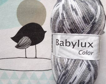 WOOL BABYLUX COLOR grey - white horse