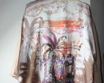 Kimono-drape-Africa-poncho-Cape Africa style-Elephant print cape