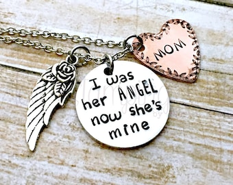 Memorial Jewelry | Angel Wings | Memorial Gift | Loss Of Loved One | Sympathy Gift | In Loving Memory | Stamped | Remembrance | Personalized
