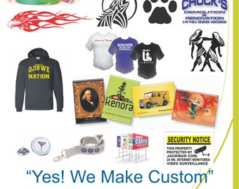 Custom Signage,Promotional Products,Apparel