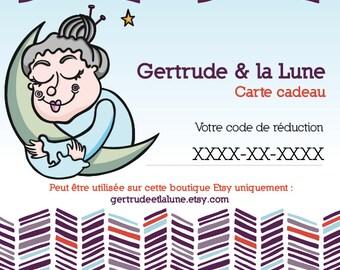Gift certificate. gift card. Knitting gift certificate. knit gift card. Gertrude & the moon. Gift certificate wool