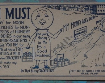 Collectible 1920's Milk Money Envelope with Certificate!