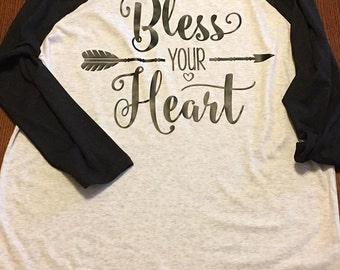 Bless Your Heart Raglan Shirt