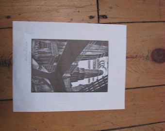 "EM Washington Print ""Elevated Train"""
