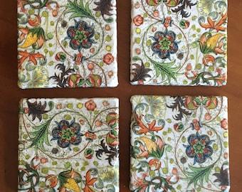 Decorative Florentine Style Drink Coasters