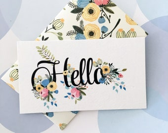 Flower Mini Cards, Gift Enclosure Card, Mini Cards and Envelopes, Gift Card Holder, Set of 10