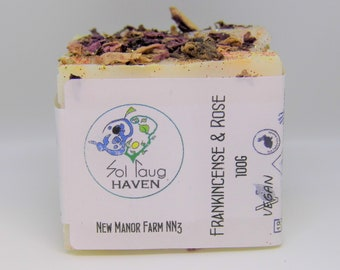 Vegan Frankincense and Rose Soap Bar approx. 100grms