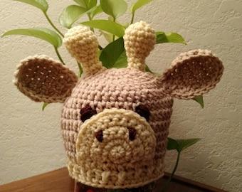 Crocheted Baby Giraffe Hat