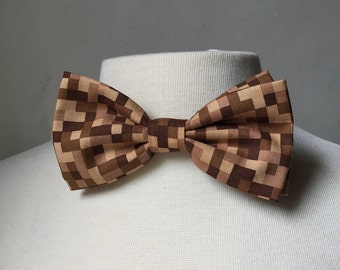 Brown Minecraft Inspired Bow tie