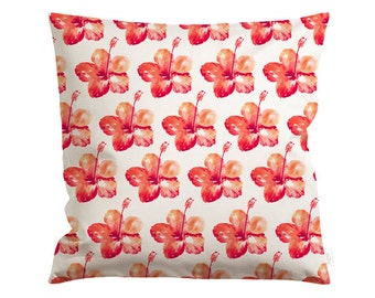 20x20in Hibiscus Love Pillow Cover