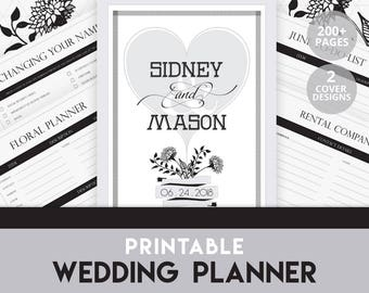 Printable Wedding Planner | Wedding Planner | Wedding Planner Printable | Wedding Budget | Wedding Binder