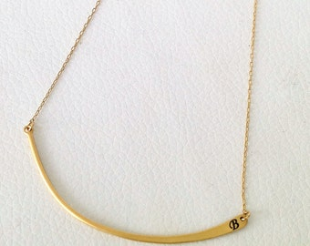 Solid Gold Necklace, Personalized Necklace, Unique Birthday Gift, Customized Necklace, Dainty Necklace, Bridesmaids Necklace
