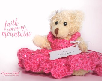 Scripture Gifts Keepsake Teddy Bear Unique Special Gift for Friend Gift for Girls Encouragement Stuffed Bear for Her Christian Gift