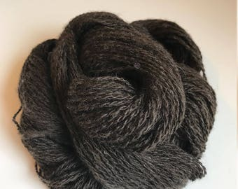 DK (light worsted) Handspun 2-ply yarn ~ 100% wool from home-raised Finn Sheep