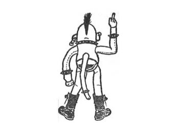 SUPER CLEARANCE Socky Rotten Punk Sock Monkey Rubber Stamp SMALL