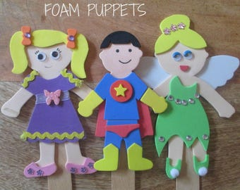 PARTY FAVOUR Foam Puppet Craft