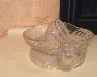 Large Clear Glass Reamer/Juicer